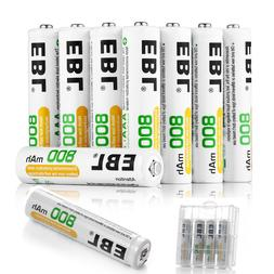 EBL Lot of  AAA 3A NI-MH Rechargeable Batteries 800mAh 1.2V