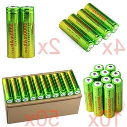 Lot of Skywolfeye 3.7V 18650 Battery 5000mAh Li-ion Recharge