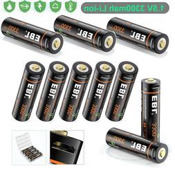 Lot Rechargeable 3300mWh AA Battery 1.5V Li-ion Lithium Batt