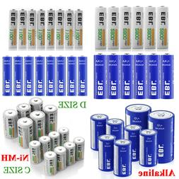 Lot EBL Rechargeable NI-MH C D Size Cell / Non-Rechargeable