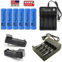 LOT USA Battery 3.7v Li-ion Rechargeable Batteries Smart Cha