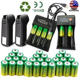 Lots Rechargeable 3.7V CR123A Batteries Lithium for Netgear