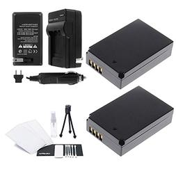 LP-E12 Battery 2-Pack Bundle with Rapid Travel Charger and U