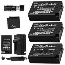 UltraPro 3-Pack LP-E17 Replacement Battery with Rapid Travel