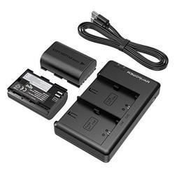 LP-E6 LP E6N Battery Charger RAVPower Rechargeable Battery P