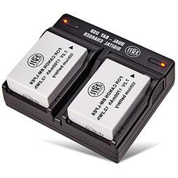 BM Premium 2-Pack of LP-E8, LPE8 Batteries and Dual Battery