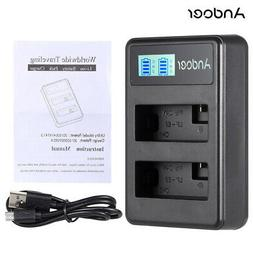 Andoer LP-E8 Rechargeable Li-ion Battery Charger Pack USB Ca