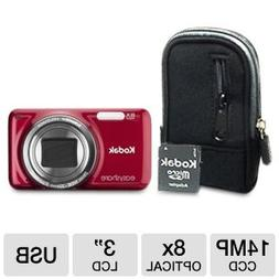 Kodak M583 Digital Camera, Value Bundle kit w/ Case, 4GB Car