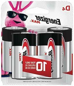 Energizer Max D Batteries,Premium Alkaline D Cell Batteries-