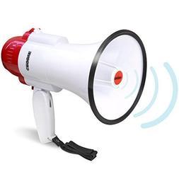 Croove Megaphone Bullhorn With Siren, 30 Watt Powerful and L