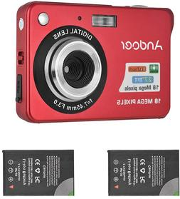 Andoer Mini Digital Camera with 2pcs Rechargeable Batteries
