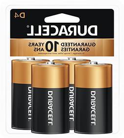 Duracell MN1300R4Z Coppertop Alkaline Batteries- D- 4/Pack