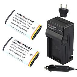 Newmowa KLIC8000 Replacement Battery  and Charger kit for Ko