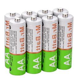 Mr.Batt NiMH AA Rechargeable Batteries Pre-Charged 1600mA 8