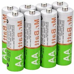 Mr.Batt NiMH AA Rechargeable Batteries Pre-Charged 1600mA  H