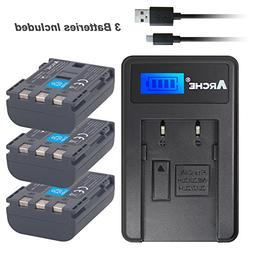 NB-2L NB-2LH ARCHE <3 Pack> Battery and LCD Single Charger K