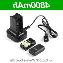 2PCS Rechargeable Battery Pack & Charging Dock for Xbox 360