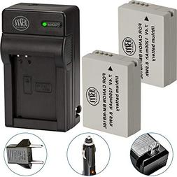 BM Premium 2 Pack of NB-10L Battery and Charger Kit for Cano