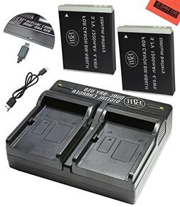 BM Premium Pack of 2 NB6L, NB-6L, NB-6LH Batteries and USB D