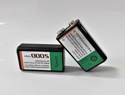 NEW 2pcs 9v 2000mAh Ni-MH <font><b>Rechargeable</b></font> 9