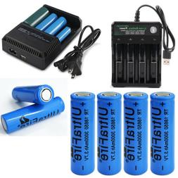 NEW 3000mAh Flat Top 18650 Rechargeable Battery 3.7V For 186