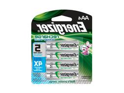 NEW 4/pack AA Energizer Rechargeable NiMH Batteries AA4 Rech