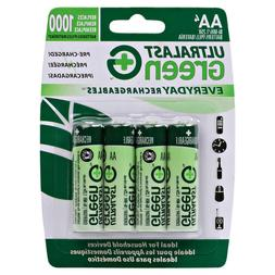 ULTRALAST NEW 4PACK AA EVERYDAY PRECHARGED CARDED HOUSEHOLD