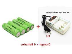 New AA Alkaline Rechargeable Battery 3000mAh 1.5V + Battery