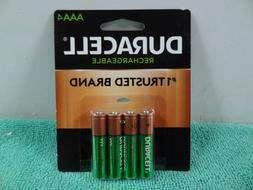 New Duracell AAA Rechargeable Batteries, AAA  4-Pack,  1.2V