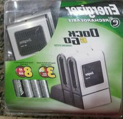 New Energizer E2 Dock & Go Rechargeable +  AA Batteries Port