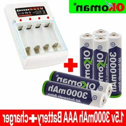 Okoman New HeavyDuty 3000mah 1.5V AAA Alkaline Rechargeable