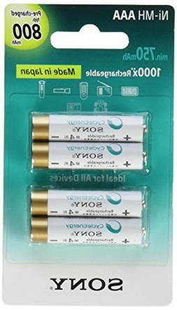 Sony Nh-Aaa-B4k Cycleenergy Rechargeable Battery Blister Mul