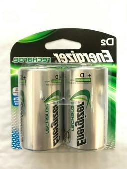 ENERGIZER NH50BP-2 Rechargeable NiMH Batteries D 2-pk NH50BP