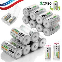 EBL Ni-MH C D Size C D Cell Rechargeable Batteries High Capa