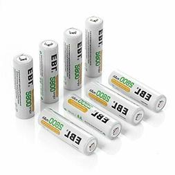 EBL 8 Pack AA Batteries 2800mAh High Capacity  AA Ni-MH Rech