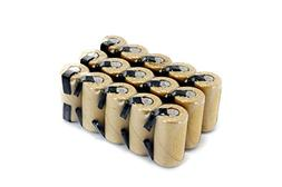 Box of 15 pcs Tenergy NiCd SubC 2200mAh Paper Wrapped Rechar