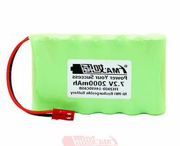 Nickel Metal-Hydride Ni-MH 7.2V 2000mAh Rechargeable Battery