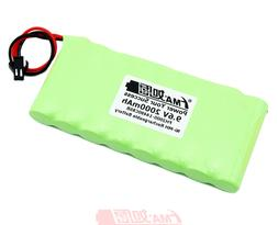Nickel Metal-Hydride Ni-MH 9.6V 2000mAh Rechargeable Battery