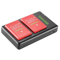 Neewer EN-EL14A EN-EL14 Charging Set Rechargeable Battery Ki