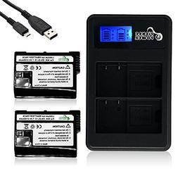 Pickle Power 2 Pack Nikon EN-EL15 Battery and Dual LCD Charg