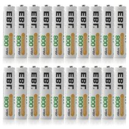 EBL 800mAh NiMH AAA Rechargeable Batteries, 20 Pack