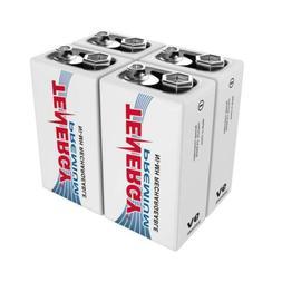 4 pcs of Tenergy Premium 9V 200mAh NiMH Rechargeable Batteri