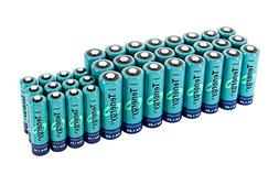 High capacity Tenergy NiMH Rechargeable battery package: 24