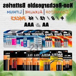 Non Rechargeable Battery 4 8 12 AA/AAA lot Alkaline/Lithium/