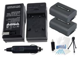 2-Pack NP-FH60 High-Capacity Replacement Batteries with Rapi