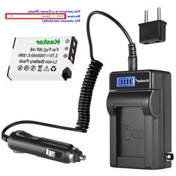 Kastar NP48 Lithium Ion Rechargeable Battery LCD AC Charger