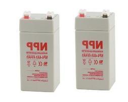 NPP 4V 4Ah 4 Volt 4amp Rechargeable SLA Battery for Electron