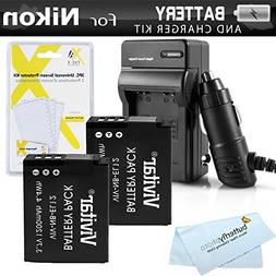 Replacement EN-EL12 2 Pack Battery and Charger Kit For NIKON
