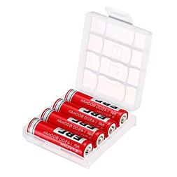 EBL Pack of 4 3.7V 800mAh 14500 Li-ion Rechargeable Battery