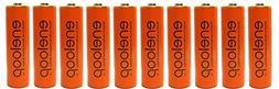 10 Pack Panasonic Eneloop AA 2000mAh, Min.1900mAh NiMH Pre-C